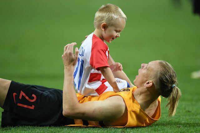 Domagoj i David Vida nakon utakmice s Engleskom