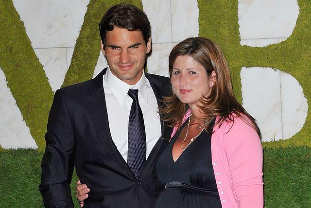 Mirka i Roger Federer neposredno prije rođenja njihovih kćerkica