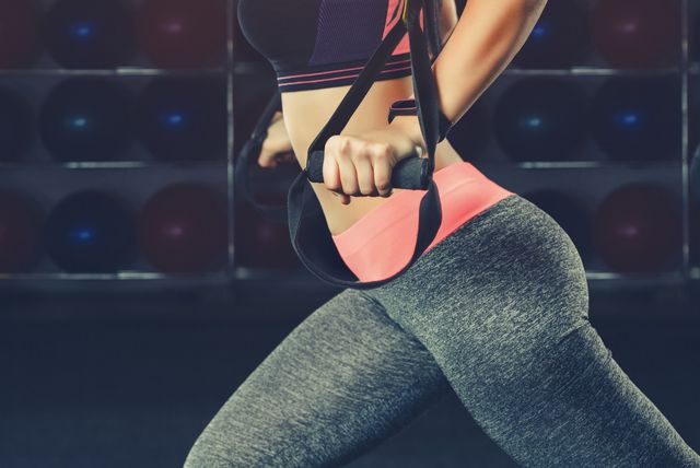 Žena vježba