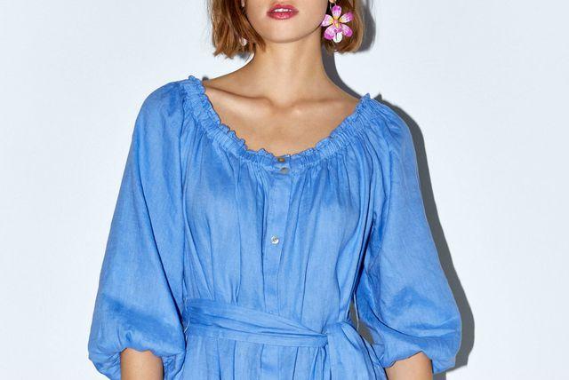 Lanena haljina Zara