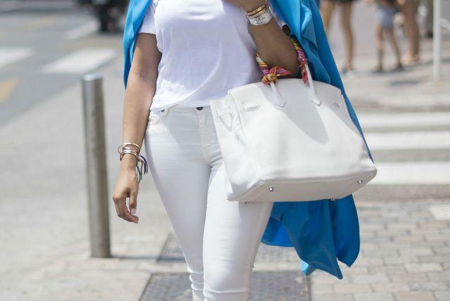 Bijele traperice s elastinom iz trgovina - 5
