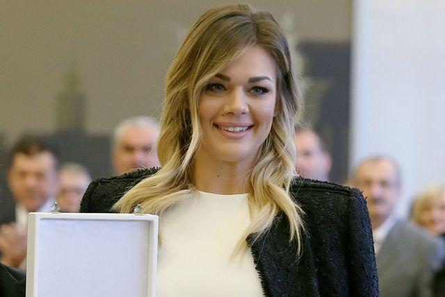 Sandra Perković u pencil suknji brenda LeiLou by Alex Dojčinović - 3
