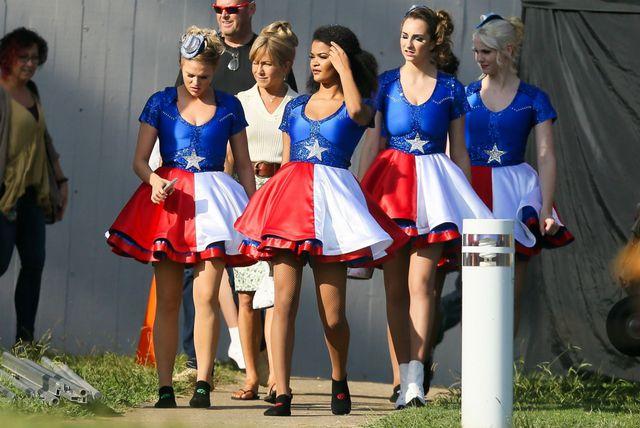 Jennifer Aniston na setu filma Dumplin\'