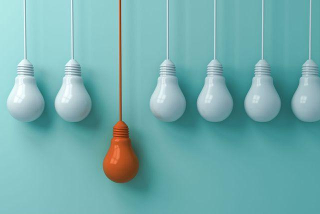 Električna žarulja kao simbol inteligencije i dobrih ideja