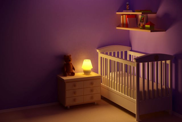 Ilustracija dječjeg krevetića