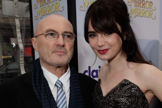 Phil Collins s Lilly Collins