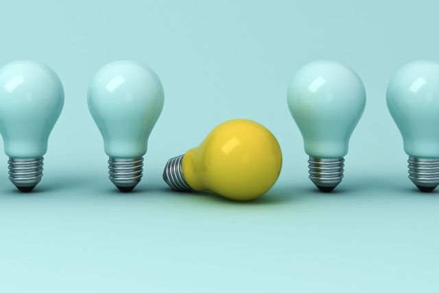 Električna žarulja kao simbol inteligencije i pameti