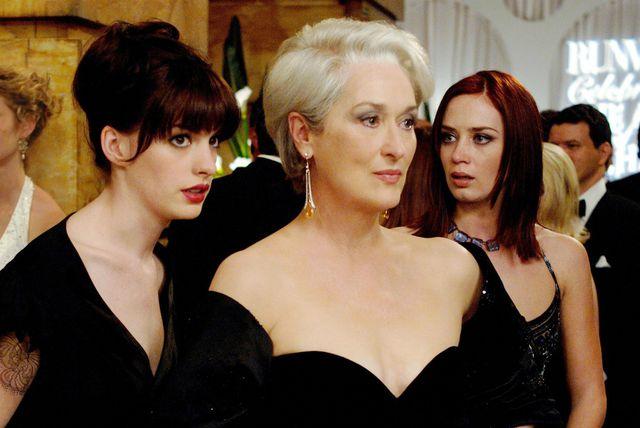 Andy (Anne Hathaway), Miranda (Meryl Streep) i Emily (Emily Blunt)