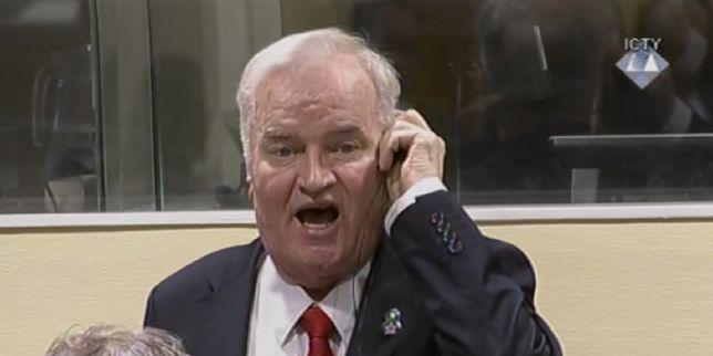Trenutak u kojem je Ratko Mladić zbog vikanja izbačen iz sudnice