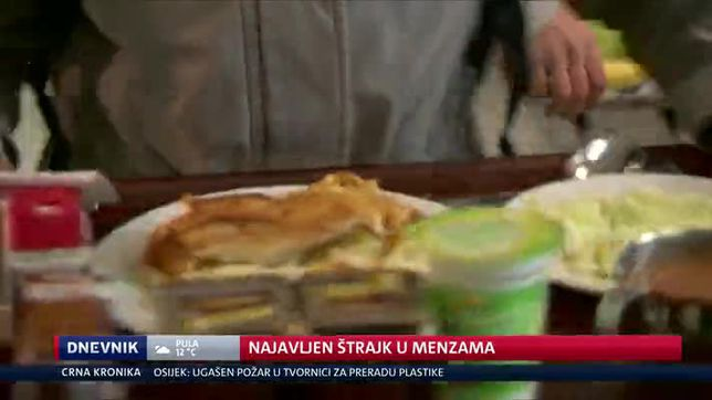 Najavljen štrajk u menzama (Video: Dnevnik Nove TV)