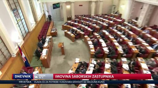 Imovina saborskih zastupnika (Video: Dnevnik Nove TV)