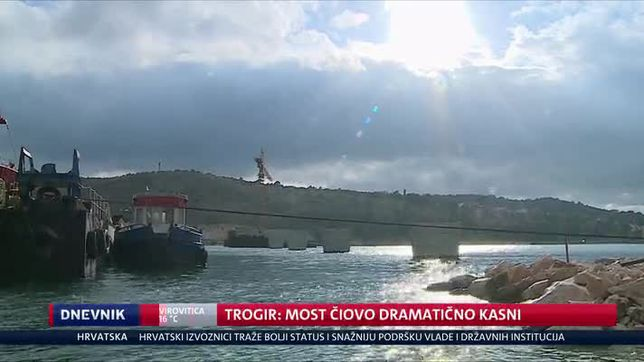 Trogir: Most Čiovo dramatično kasni (Video: Dnevnik Nove TV)