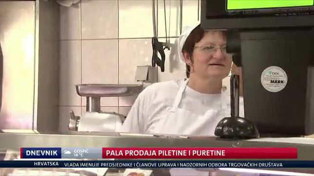 Pala prodaja mesa (Video: Dnevnik Nove TV)