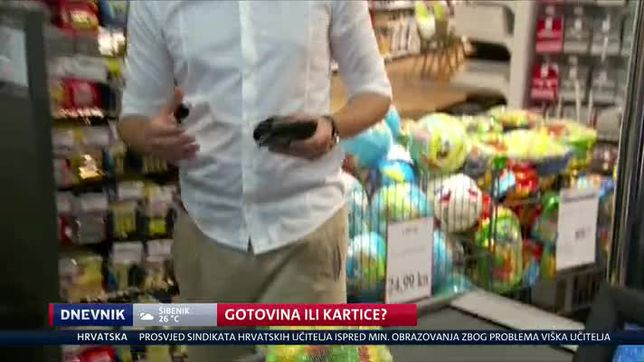 Gotovina ili kartice? (Video: Dnevnik Nove TV)