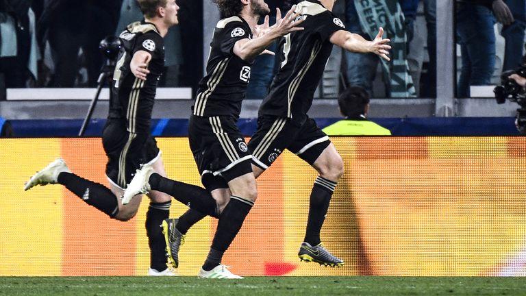 Slavlje igrača Ajaxa