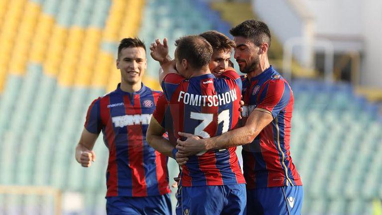 Slavlje igrača Hajduka u Sofiji