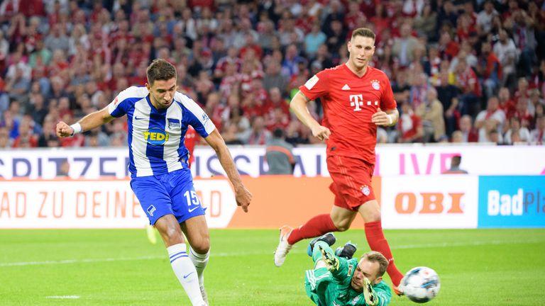 Hertha zabija pogodak Bayernu