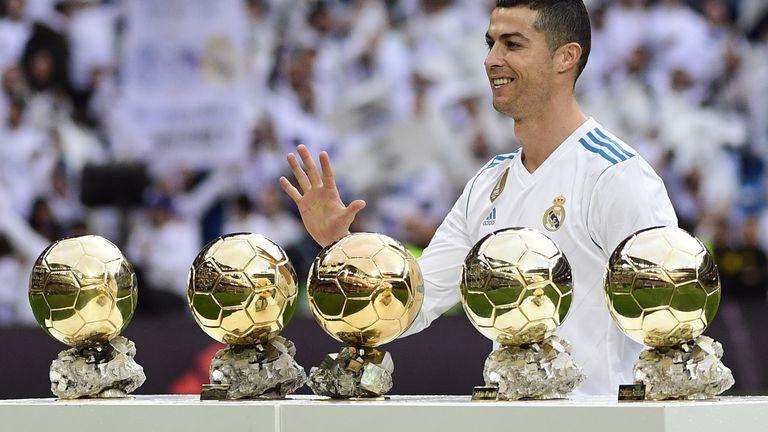 Ronaldo sa svojih pet Zlatnih lopti