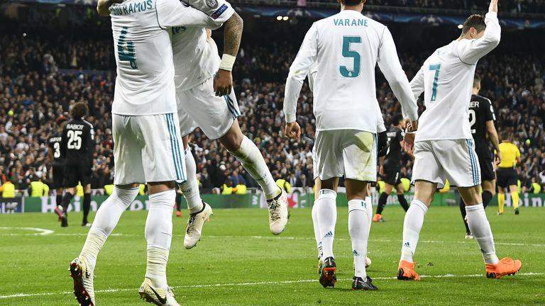 Igrači Reala slave gol
