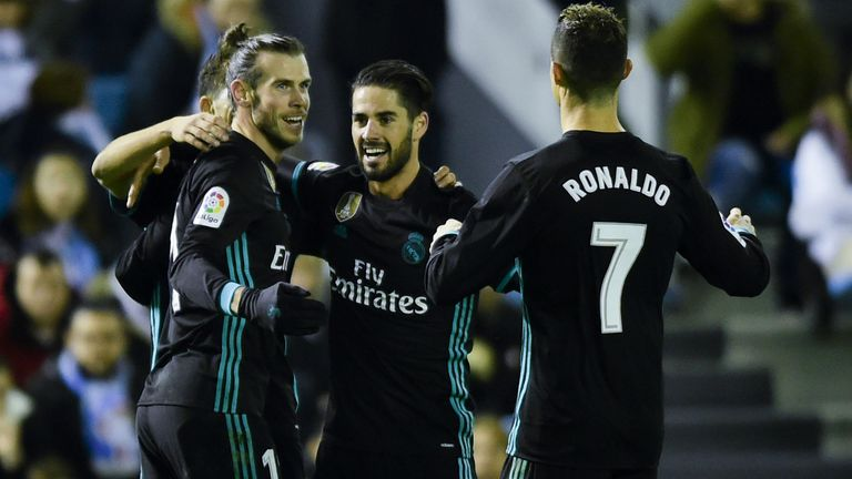 Gareth Bale, Isco i Cristiano Ronaldo