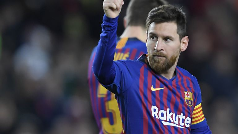 Lionel Messi slavi pogodak