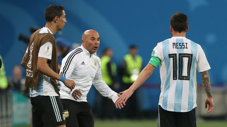 Di Maria, Sampaoli i Messi
