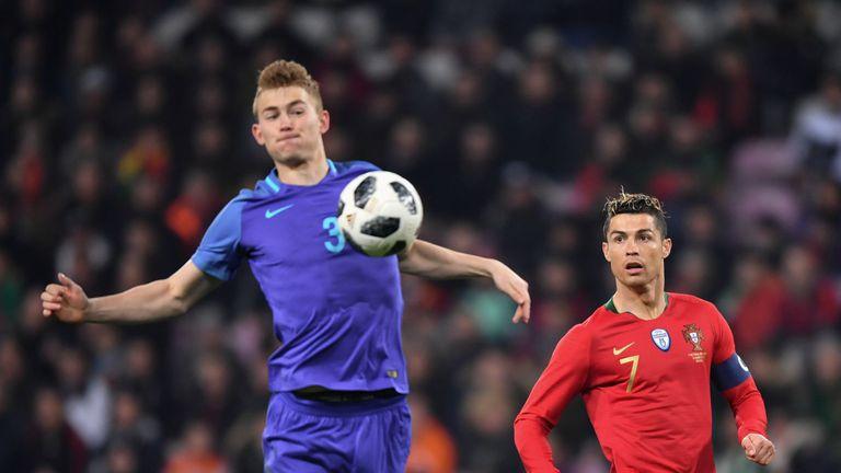 Matthijs de Ligt i Cristiano Ronaldo