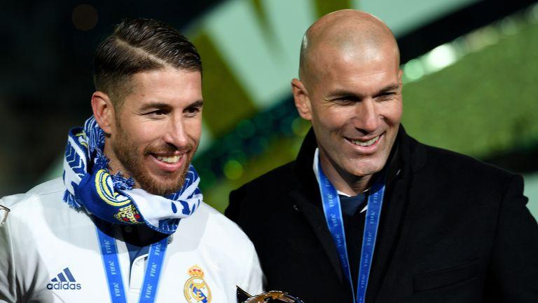 Sergio Ramos i Zinedine Zidane
