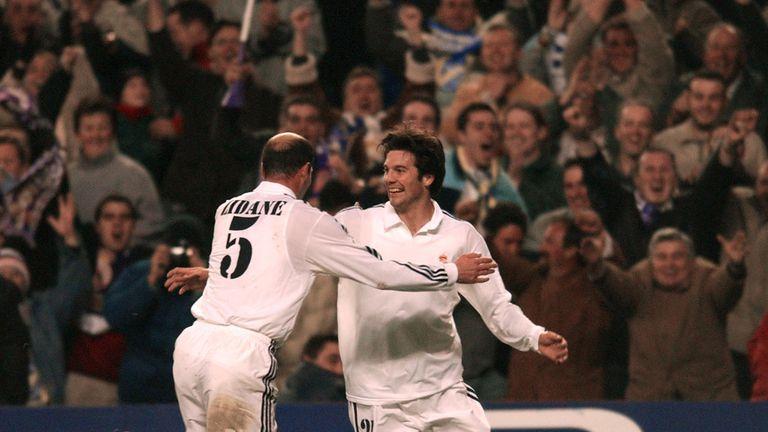 Zinedine Zidane i Santiago Solari