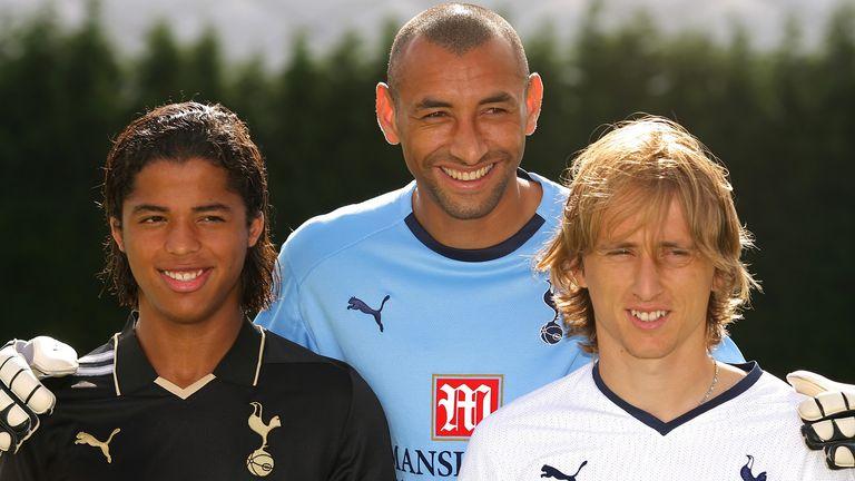 Predstavljanje Tottenhamovih pojačanja 2008. - Giovani dos Santos, Heurelho Gomes i Luka Modrić (Foto: AFP)