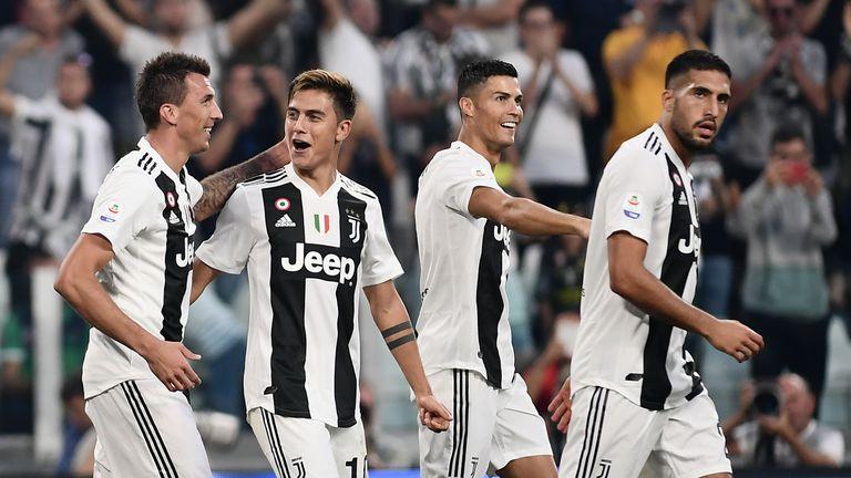 Mario Mandzukić, Paulo Dybala, Cristiano Ronaldo i Emre Can