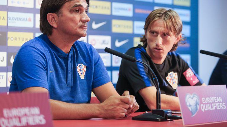 Luka Modrić i Zlatko Dalić