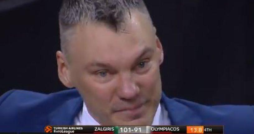 Šarunas Jasikevičius u suzama (Screenshot)