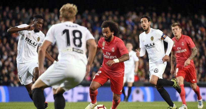 Marcelo protiv Valencije (Foto: AFP)
