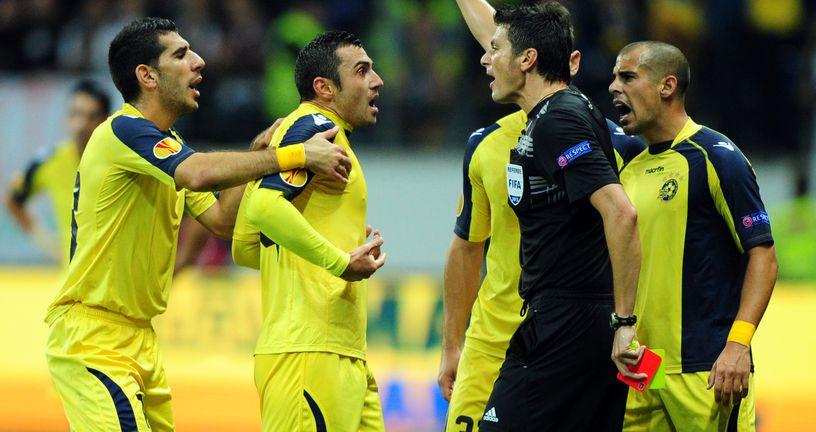 Nogometaši Maccabi Tel Aviva (Foto: Arne Dedert/DPA/PIXSELL)
