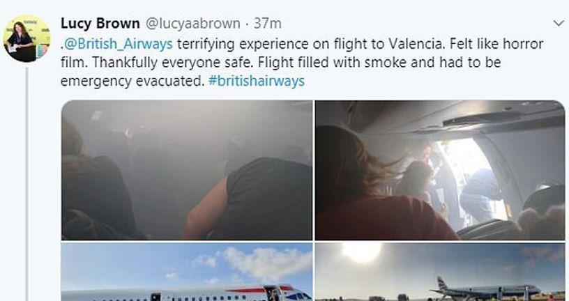Dim u avionu British Airwaysa (Foto: Twitter) - 3