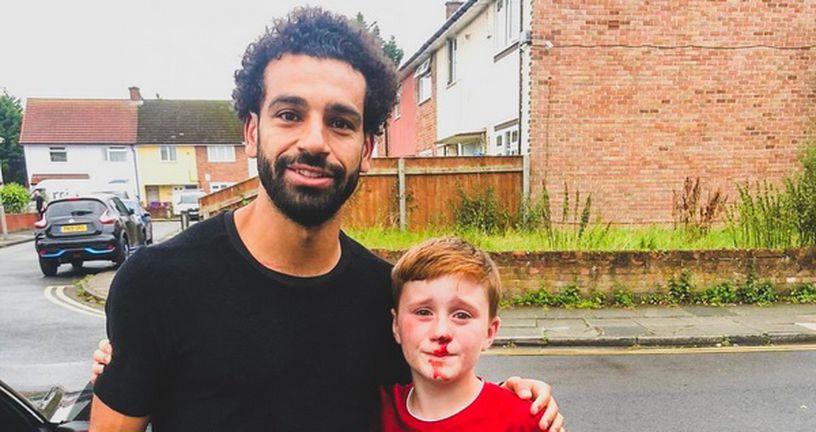 Mohamed Salah i Louis Fowler (Foto: Twitter)