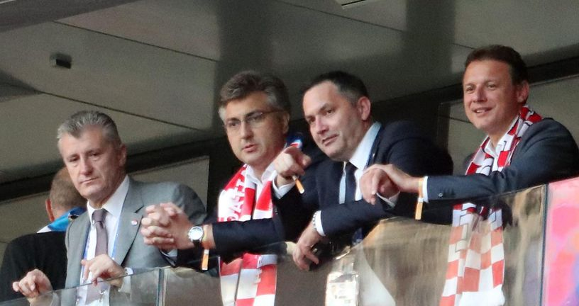 Davor Šuker, Andrej Plenković, Marijan Kustić i Gordan Jandroković (Photo: Igor Kralj/PIXSELL)