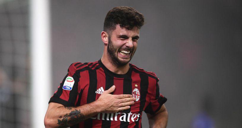 Patrick Cutrone slavi gol koji je postigao za Milan (Foto: AFP)