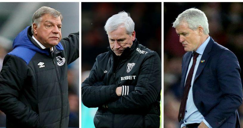 Sam Allardyce, Allan Pardew i Mark Hughes (Foto: Press Association/PIXSELL)