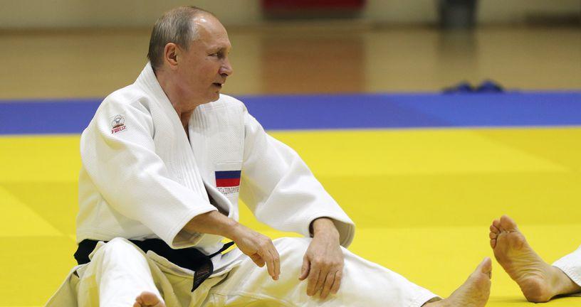 Vladimir Putin na judo treningu (Foto: AFP)