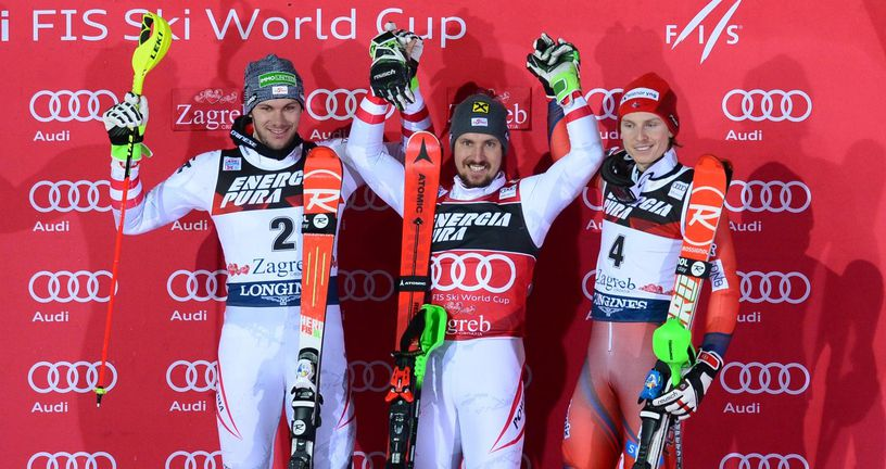 Michael Matt, Marcel Hirscher, Henrik Kristoffersen (Foto: Marko Prpic/PIXSELL)