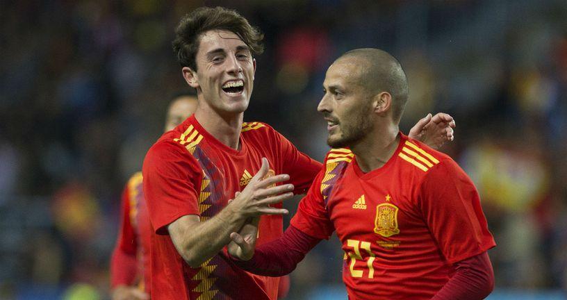 Alvaro Odriozola i David Silva (Foto: AFP)