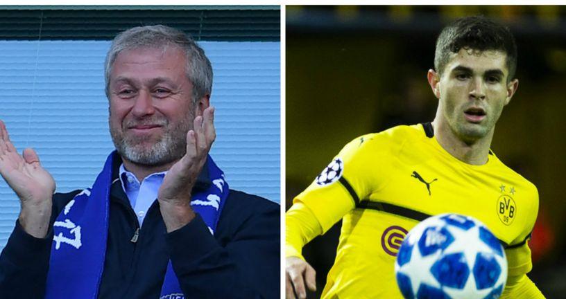 Roman Abramovič i Christian Pulišić (Foto: AFP/NordPhoto/NordPhoto/PIXSELL)