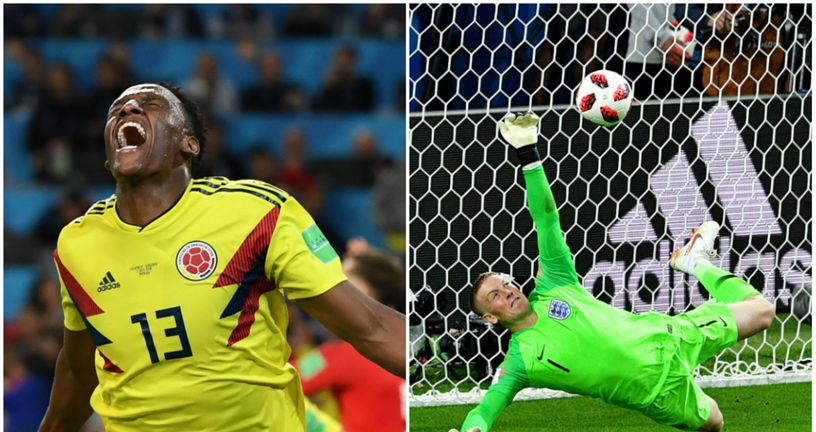 Yerry Mina i Jordan Pickford (Foto: AFP)