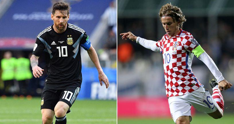 Messi vs Modrić (Foto: AFP)