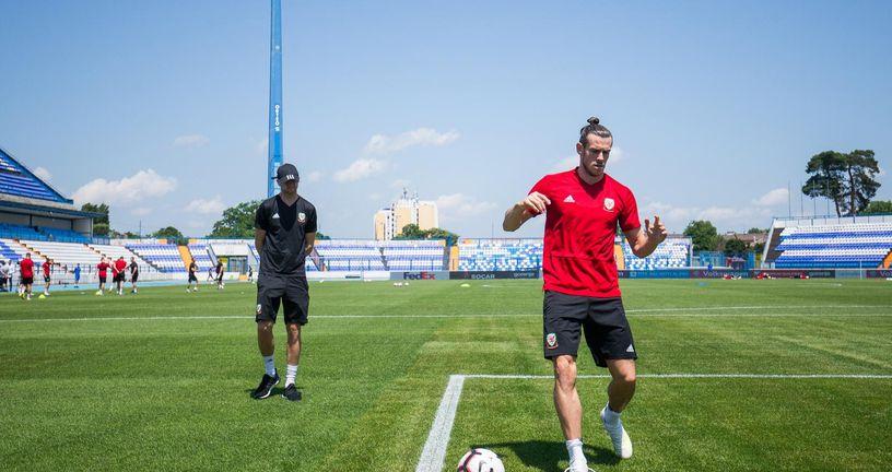 Gareth Bale na treningu u Osijeku (Foto: Davor Javorović/PIXSELL)