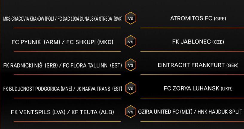 Ždrijeb za Hajduk (Screenshot: UEFA.com)