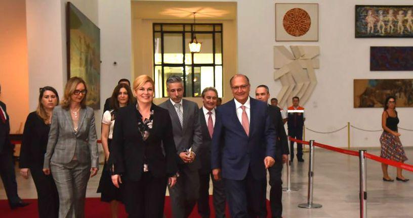 Kolinda Grabar-Kitarović susrela se u ponedjeljak navečer s guvernerom države Sao Paulo Geraldom Alckminom