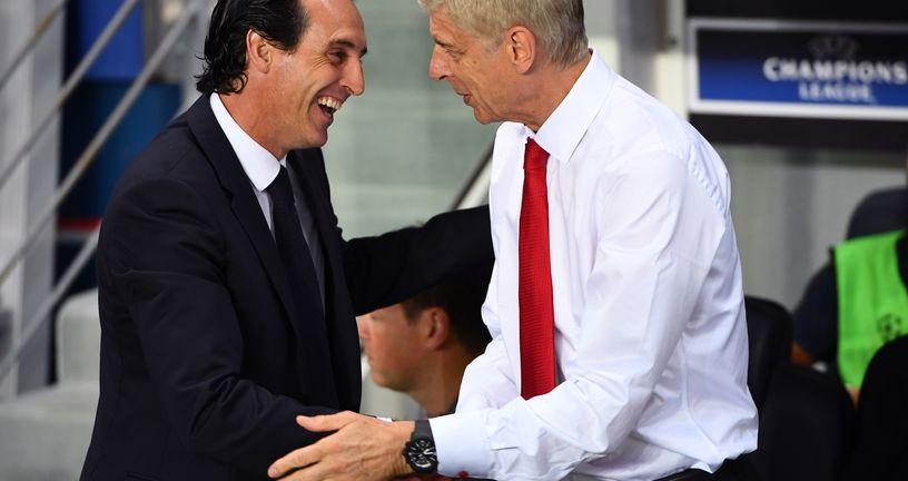 Unai Emery i Arsene Wenger (Foto: AFP)